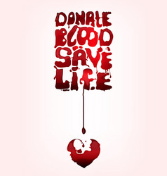 Give blood poster vector