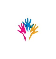 Hand care logo template icon vector