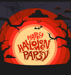 happy halloween party annoncement vector image