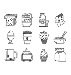 Healthy nutrition black line icon vector