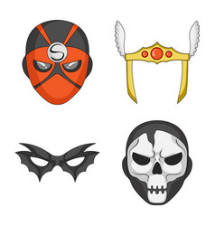 Hero and mask symbol vector