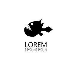icon black is a predatory fish vector image