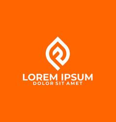 initial letter fp fj pf fpj logo template vector image