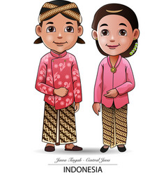 Javanese traditional cloth vector