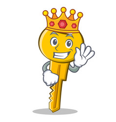 King key character cartoon style vector