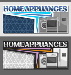 Layouts for home appliances vector