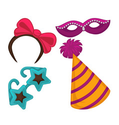 Masquerade and kids carnival party celebration vector