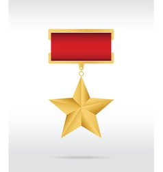Medal star vector