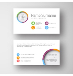 Modern white business card template with flat user vector image