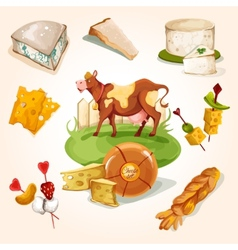 Natural cheese concept vector image