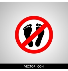 Not Walk icon great for any use vector