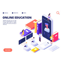 online education concept internet class training vector image