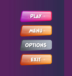 options selection windows isolated set vector image