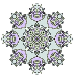 Ornate mandala white background vector image