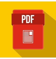 PDF file icon flat style vector
