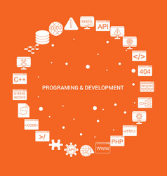 Programming and developement icon set infographic vector