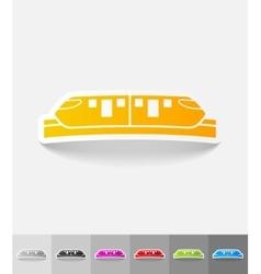 realistic design element monorail train vector image