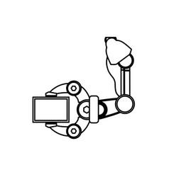 Robotic arm technology vector