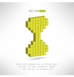 Sand glass icon in special pixel flat design Old vector image
