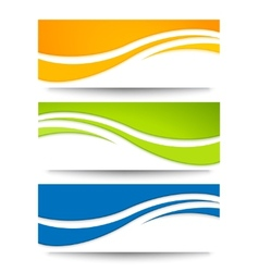 Set banners for your design vector