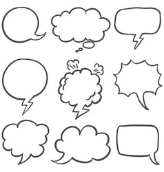 set of text bubble collection stock vector image