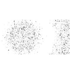 silver glitter confetti on a white background vector image