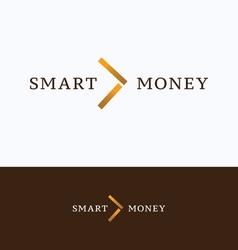 Smart money arrow logo vector