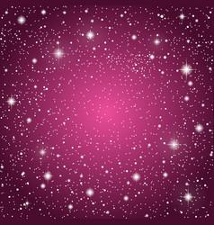 Starry sky with purple glow shining stars sky vector