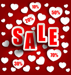 Valentines day with sale background vector