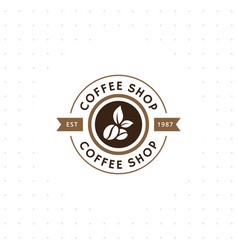 vintage coffee logo and label vector image