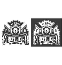 Vintage firefighter logos vector