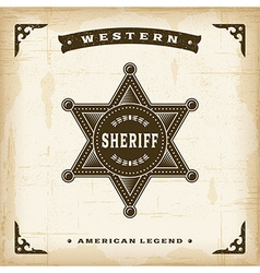 Vintage Western Sheriff Badge vector image