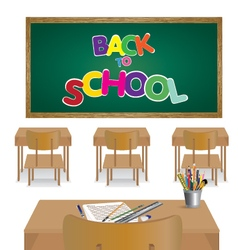 Welcome back to school Classroom of student vector image