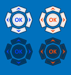 white buttons for interface control vector image