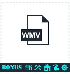 WMV icon flat vector image
