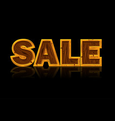 wooden letters forming the word sale black vector image