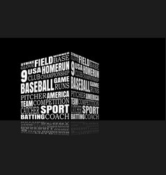 baseball relative words cloud vector image