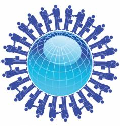 businessman globe vector image vector image