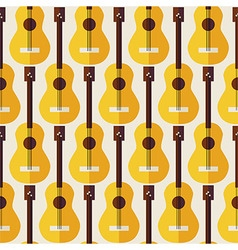 Flat Seamless Background Pattern Music Instrument vector image vector image