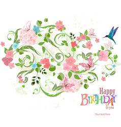 invitation card with a lovely floral ornament for vector image vector image