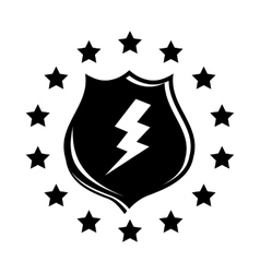 Lightning and shield icon simple style vector image vector image
