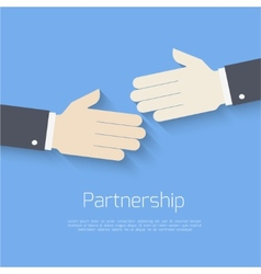 Partnership concept vector image
