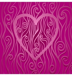 Pattern with Heart on Center vector image vector image