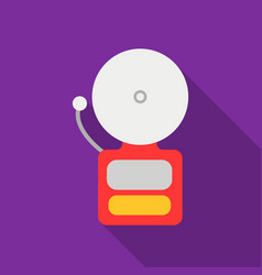 fire alarm icon flat single silhouette fire vector image vector image