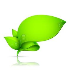 Leaf banner vector image vector image