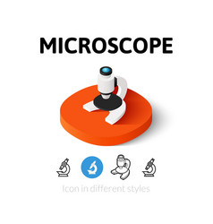 Microscope icon in different style vector image vector image