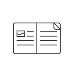open book thin line icon linear symbol vector image