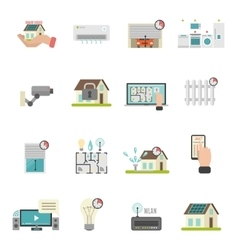 Smart House Icons Set vector image