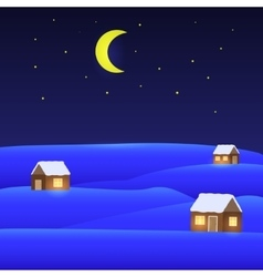 winter landscape Merry Christmas vector image vector image