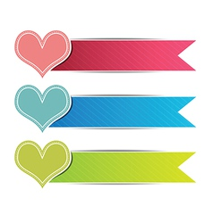 heart button website vector image vector image